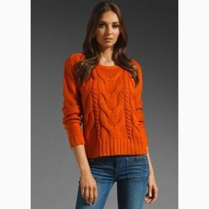 B.B. Dakota orange sweater